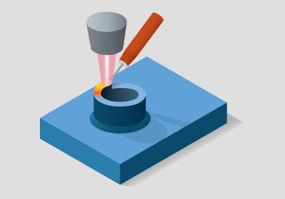 Påsvetsning (AM) med laser